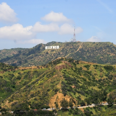 The Hollywood Sign from Griffith Observatory. 2017.