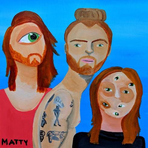 """""""Subconscious: Matt, Matty, Matthew."""" Acrylic on wood. 10"""" x 10"""". 2019."""