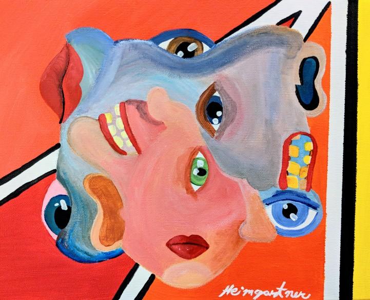 """Twisted."" Acrylic on canvas. 11"" x 14"". 2019."